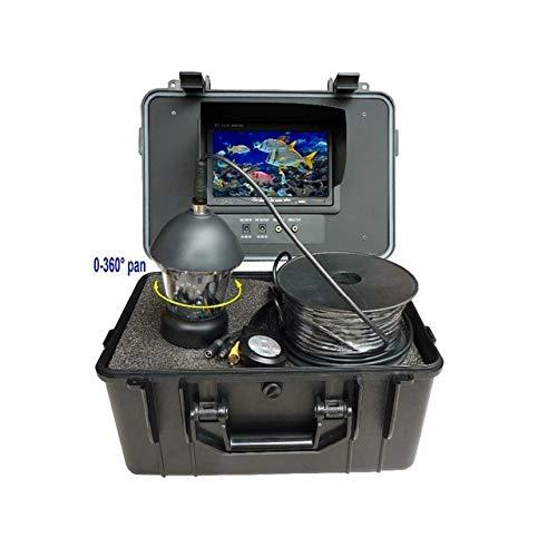 ZZKK 20 meter kabel 7 inch onderwatercamera voor vissen 12 stuks wit LED onderwatercamera kabel 360 graden