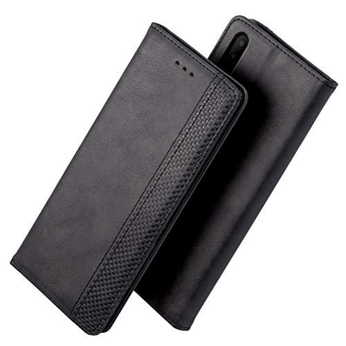 iHOY Schutzhülle für Alcate 3 x 2019, Premium-Leder, Brieftaschenformat, Magnetverschluss, Klapphülle mit Ständer und Kreditkartenfächern für Alcate 3 x 2019