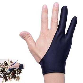 Artist Glove for Drawing Tablet Tablet Finger Glove for Graphics Drawing Tablet Light Box Tracing Light Pad  Artist Glove - L 2 Pack