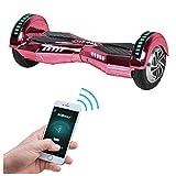 Robway W2 Hoverboard - Das Original - Samsung Marken Akku - Self Balance - Bluetooth - 2 x 350 Watt Motoren – 8 Zoll Räder (Pink Chrom)