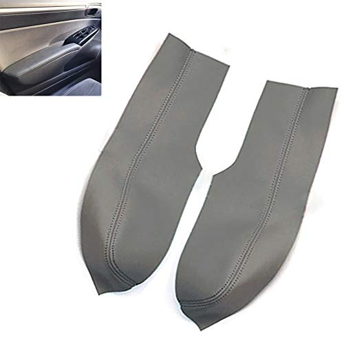 Leather Front Door Panels Armrest Cover for Honda Civic 2006-2011 Sedan Gray Leather Part Only (Dark Gray)