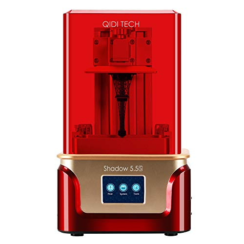 QIDI TECH Shadow 5.5 S 3D Printer, UV LCD Resin Printer with Dual Z axis Liner Rail, 3.5 Inch Touch Screen,Build Size 4.52'(L) X 2.55'(W) X 5.9'(H),Equipped with Friendly Resin
