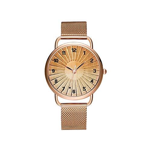 Vrouwen horloges merk dames mesh riem ultradun horloge waterdicht horloge kwartshorloge Kerstmis cirkel piano knoppen cirkel van de vijft polshorloge