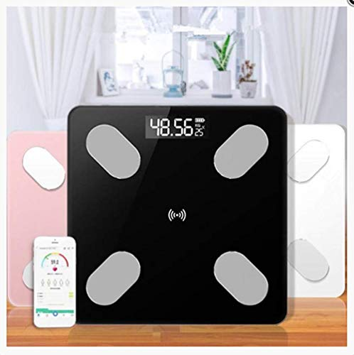 Bascula GrasaEscala de grasa corporal Piso Científico Inteligente Electrónico Led Peso digital Básculas de baño Balance Bluetooth