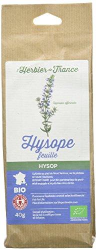L'Herbier de France Hysope Feuilles Bio Sachet Kraft 40 g