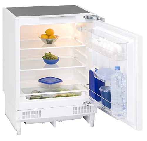 Exquisit Unterbaukühlschrank UKS 140-1.1 RVA+ | Unterbaubaugerät 131 L Nutzinhalt | weiß