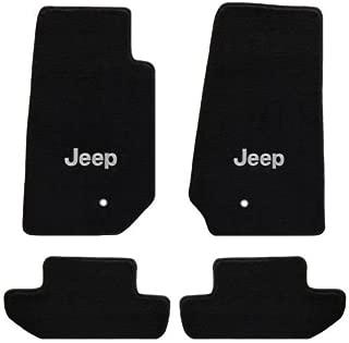 4 Pc Lloyd's All Weather Carpet Floor Mats w/Silver Jeep Logo Custom fits Jeep Wrangler 2007-2010 2 Door Model Only