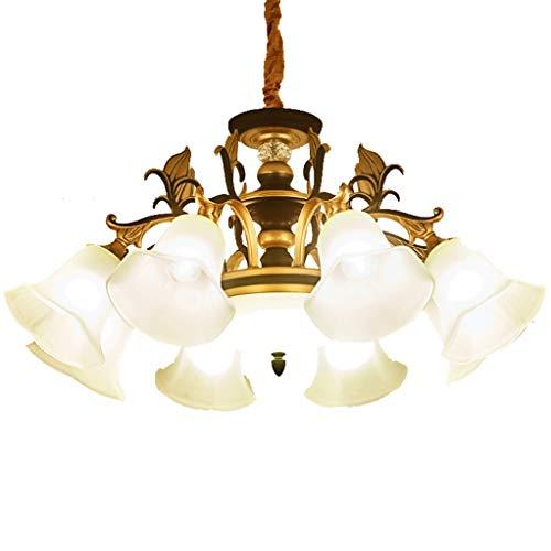 Hmvlw candelabro Casa Club Sala Comedor de Lujo atmosférica Villa lámpara de Cristal de la lámpara E27 del Dormitorio del Hotel (Size : D76cm*H37cm)