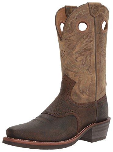 Ariat Men's Heritage Roughstock Western Cowboy Boot, Earth/Brown Bomber, 11 D
