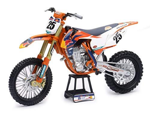New-Ray 959-0101 Replica 1:10 Race Bike 17 KTM 450Sx-F Orange(Musquin)