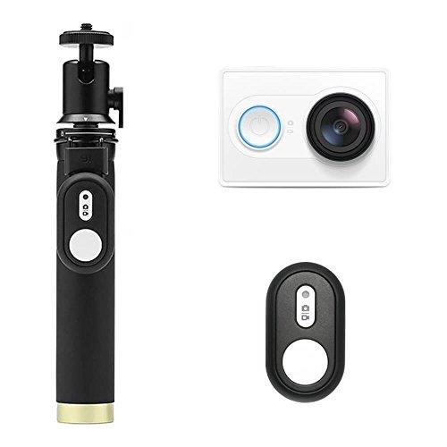 YI Action Kamera Set 12 MP Full HD 1080P mit Selfie Stick und Bluetooth-Fernbedienung weiß