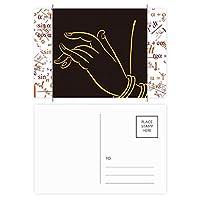 黒の蝶の標本 公式ポストカードセットサンクスカード郵送側20個