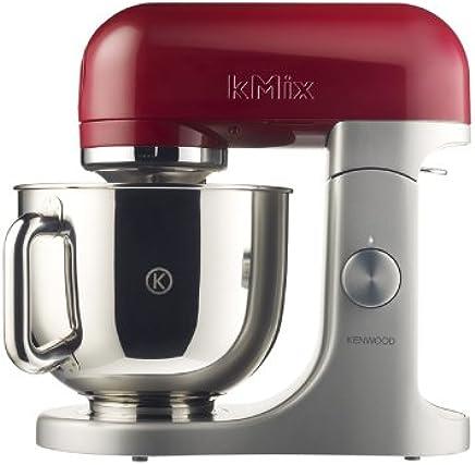 Kenwood kMix KMX51 - Robot de cocina, 500 W, capacidad de 5 l, 6 velocidades, 3 herramientas, color plateado y rojo burdeos