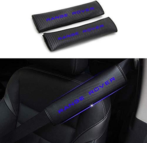 HHY-X 2 Pcs Coussin Ceinture de Sécurité,Voiture Protège Ceinture de Sécurité Amovible,pour Land Rover Range Rover Protector Safety Pads,Bleu