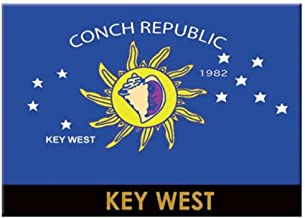 Tervis 1065853 Florida Conch Republic Flag Key West Insulated Tumbler with Emblem 12oz Clear