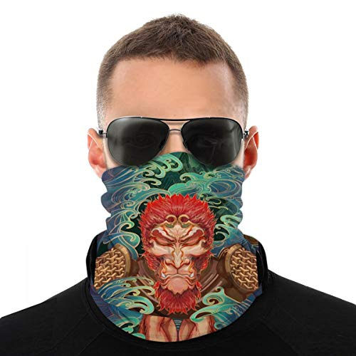 Protection Neck Gaiter Mask Magic Face Cover Scarf Dust Wind Bandana Balaclava Headwear for Fishing Hiking Cycling&Uv Sun-Protection for Festivals and Outdoors White