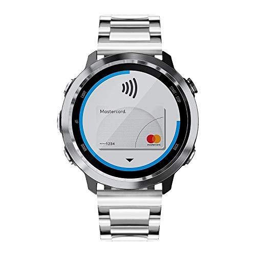 Banda de Reloj Compatible para Garmin Vívoactive 4S/ Vívoactive 3 Music/Forerunner 245/645 Music, Vivomove 3/Luxe Smartwatch Reemplazo de Acero Inoxidable 18 mm 20 mm Correas de Metal