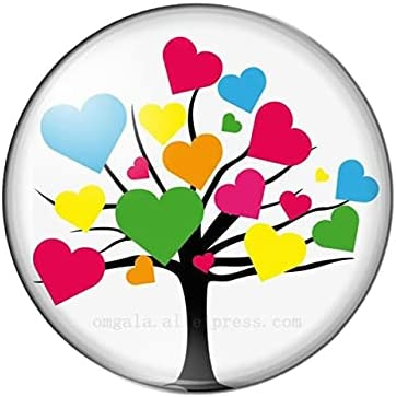 CUTIHO Valentine's Day Challenge the lowest price Love of Tree 20 25mm 18 12 Round Year-end gift He10Pcs