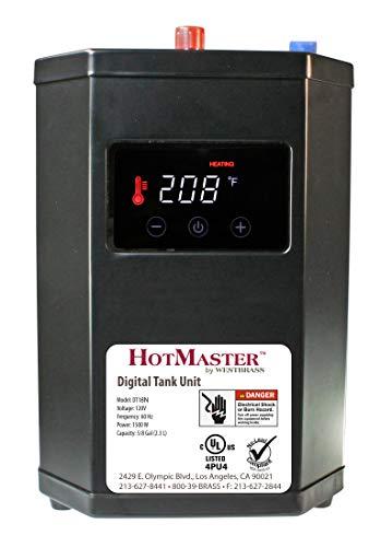 Westbrass DT18N HotMaster DigiHot Instant Digital Tank System Hot Water Dispenser, Black