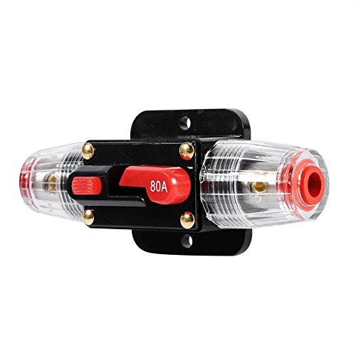 Auto Disyuntor Restablecer Fusible Inversor Para Coche Marine Sistema De Barco Protección-12V-24V (tamaño : 80A)