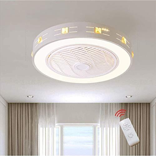 KFDQ Ventilador Luz de techo Luz de techo moderna creativa Led Regulable con control remoto Lámpara de dormitorio infantil Oficina Restaurante Sala de estar Iluminación decorativa,Atenuación continua