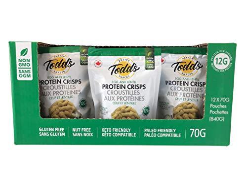 Todd'S Better Snacks Protein Crisps Crema Agria Y Cebolla 70G (Paquete De 12) 840 g