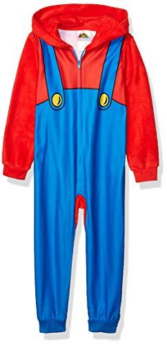 Super Mario Boys' Big Fleece Blanket Sleeper, M