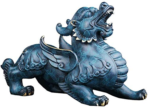 FGVBC Estatua de latón con Adorno de Feng Shui Pi Yao/Pi Xiu Wealth Porsperity Figurine, atrae Riqueza y Buena Suerte, la Mejor decoración para la Oficina o el hogar, Mujeres