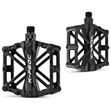 GPMTER Bike Pedals 9/16 for MTB, Mountain Road Bicycle Flat Pedal, with 16 Anti-Skid Pins -Universal Lightweight Aluminum Alloy Platform Pedal for Travel Cycle-Cross Bikes etc