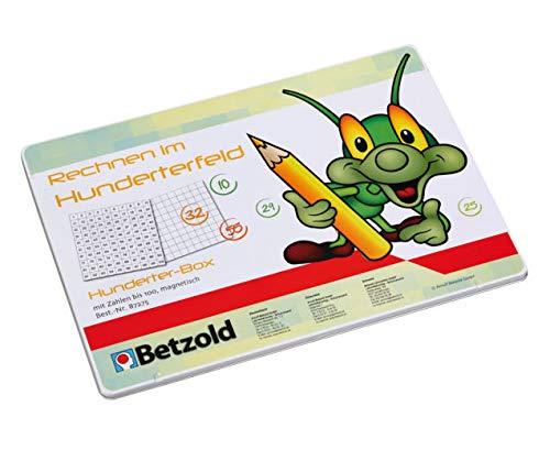 Betzold 87275 - Mathematik-Set Hunderterfeld + Hundertertafel - Magnet-Wendeplättchen lernen Zahlen Grundschule