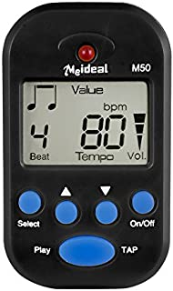 Metronome,Digital Metronome,Electronic Metronome,Clip On With Battery,Suitable for Piano,Violin,Guitar,Drum,Running,Dancing - Black
