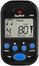 Digital Metronome Clip-On Metronome Electronic Metronome Pocket Electronic Metronome With Battery, Suitable for Piano, Violin, Guitar, Drum -Black
