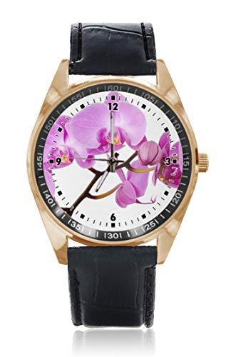 Choeter Purple Dim Flower personalizzato uomo donna orologio impermeabile al quarzo orologio da polso con cinturino in pelle sostituibile
