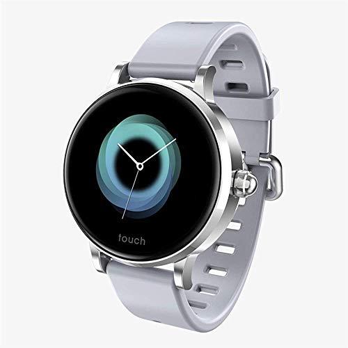 WeChat - Pulsera inteligente para mujer con pantalla de color (color: negro), color plateado