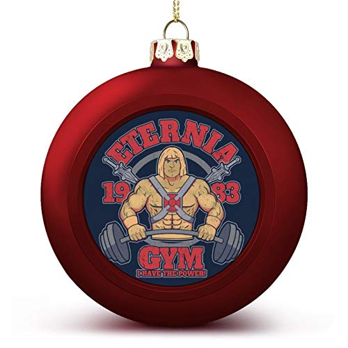 VNFDAS He Man Eternia Gym Custom Christmas ball ornaments Beautifully decorated Christmas ball gadgets Perfect hanging ball for holiday wedding party decoration