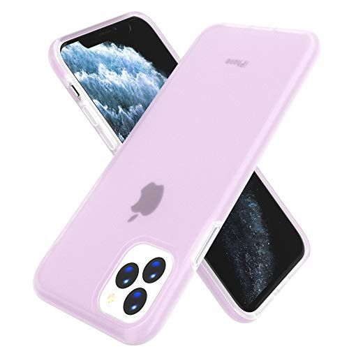 GPFILE Slim iPhone 11 Pro Case, Protective Case Cover Hard PC Shell for iPhone 11 Pro 5.8 Inch 2019 (Matte-Pink)