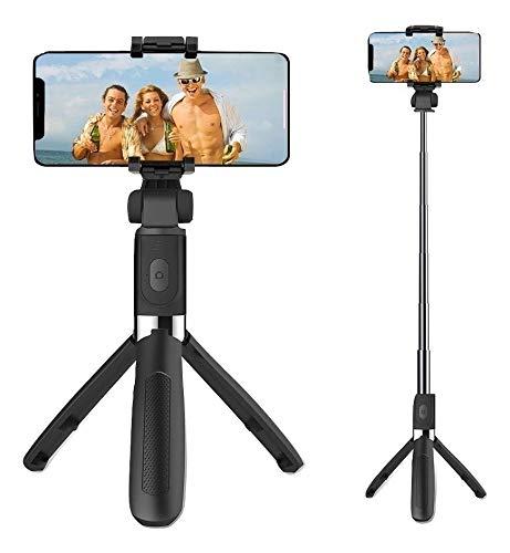 Tripé Pau De Selfie Bluetooth Controle Sem Fio Ideal Live