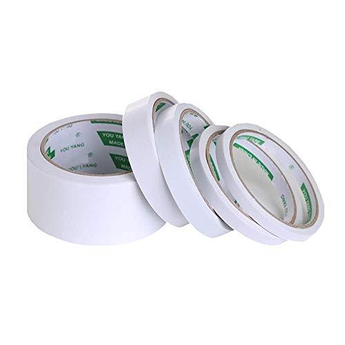 Cintas Adhesivas de Doble Cara 5 rollos Cintas Adhesivas Cinta de Doble Cara Para la Oficina y el Hogar, Embalaje,Artesanía de bricolaje(1cm, 1,2cm 1,5cm, 2cm, 4,8cm)