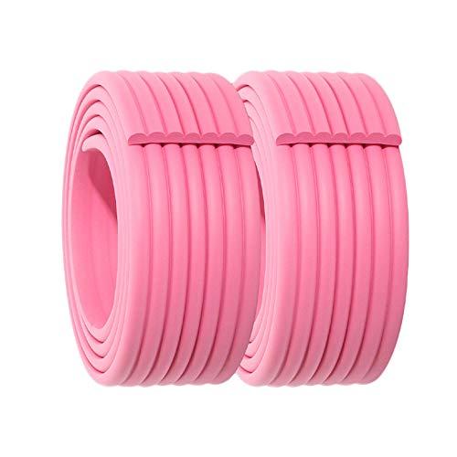 SACYSAC Anti-Collision-Streifen, Möbel Eckenschutz, Seitenverkleidung, Schaum Anti-Collision-Streifen mit doppelseitigem Klebeband, 2 M 2 Rollen,Rosa