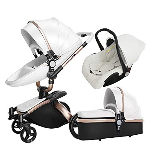 KDRICH Passeggino per bambini, due in uno, Passeggino può sedersi, sdraiarsi, piegare, a due vie, leggero, ad alta vista, ammortizzatori a doppio uso