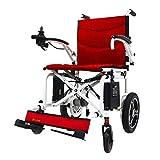 JBP max Silla de Ruedas, Silla de Ruedas eléctrica, Plegado, automático, Plegado, Ultra Ligero, discapacitado, Anciano, Cuatro Ruedas, Scooter -05,A