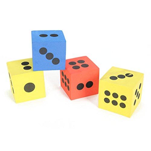 PIXNOR Espuma que juegan los dados, niños jugando dados - 12pcs (Color al azar)