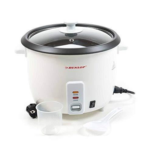 Dunlop CFX30 Reiskocher Dampfgarer groß 0.6 L, 3in1 Gerät - Reiskocher, Risottokocher, Gemüsegarer, Multikocher für 3 Personen, Risotto Topf, Dämpfeinsatz, Reistopf für alle Reisarten