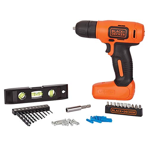 BLACK+DECKER 8V MAX Home Tool Kit, 43 Pieces (BDCD8HDPK)