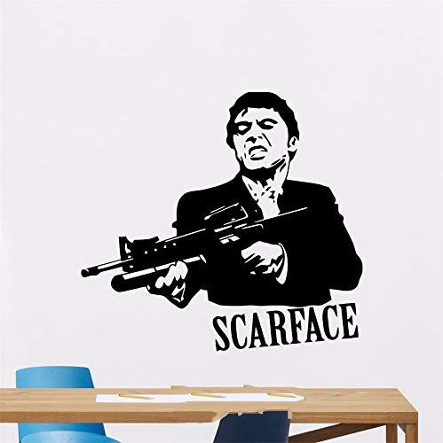 Wandtattoo Schlafzimmer Scarface Al Pacino Mafia Filme Sticker Wohnheim Home Interior Für Wohnzimmer Schlafzimmer wandaufkleber 3d