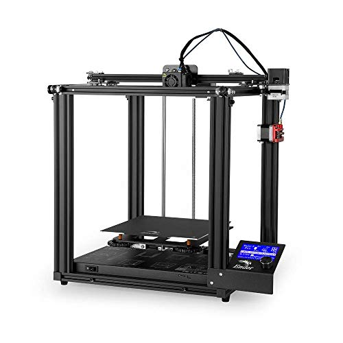 Creality Ender 5 Pro Upgrade 3D Printer with Metal Extruder Frame Capricorn Bowden PTFE Tubing and Silent Mother Board 220 x 220 x 300mm and White PLA Filament