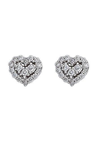 CHRIST Diamonds Damen-Ohrstecker 585er Weißgold 34 Brillanten zus. ca. 0,16 ct. One Size, weißgold