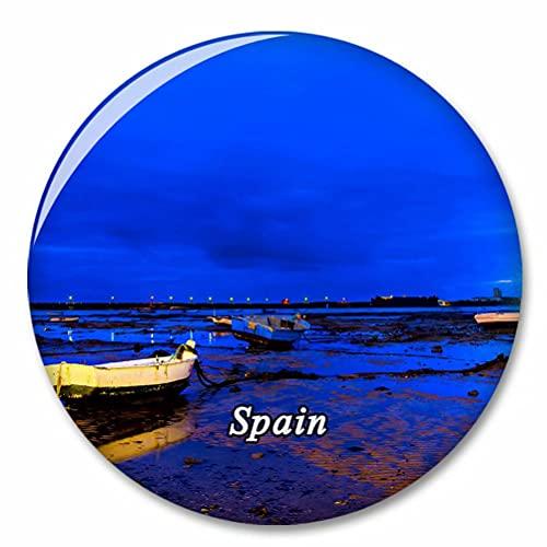 España Playa Caleta Cádiz Imán de Nevera, imánes Decorativo, abridor de Botellas, Ciudad turística, Viaje, colección de Recuerdos, Regalo, Pegatina Fuerte para Nevera
