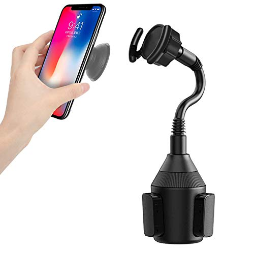 Car Socket Mount Adjustable Gooseneck Cup Holder Mount, Air Vent Socket Phone Holder Car Mount for CollapsiblePop Out Stand Compatible with iPhone Xs/XS Max/X/8/7 Plus/Galaxy S10 S9 Google and More