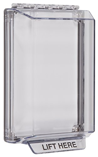 Safety Technology International, Inc. STI-14000NC Universal Stopper Low Profile with Flush Mount, Indoor/Outdoor Clear Multi Purpose Protective Polycarbonate Cover